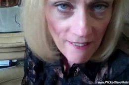 Sloppy Granny Blowjob Fun At Home Too