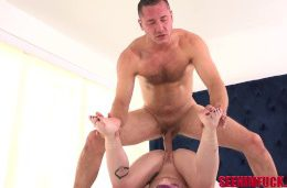 hairy lucky stud danny mountain gets licked with the focus on him!!!