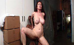Redhead Mature Babe With Big Tits Loves Big Black Dick Insi…