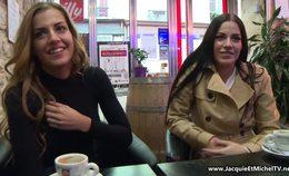 Twin Sisters Eveline & Silvia Dellai Share A Cock