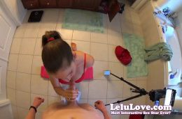 Behind The Scenes Hot Pov Of Blowjob Handjob Cumshot Full Scene – Lelu Love