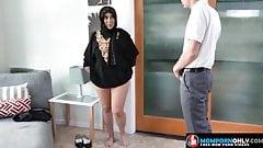 Hot arabic mom muslim with big boobs sucks a teenager