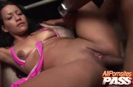 Busty Colombian Minx Jasmine Sandhize Porch Deep Playing With Pussy