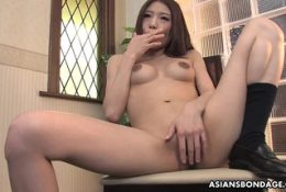 Charming Aoi Yuuki has a thing for ropes and sex toys