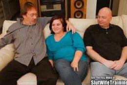 Chubby Wife Threesome Fuck Slut Swallower
