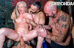 CrowdBondage – Angela Vidal Slutty Russian Babe Blonde First Time Public BDSM Fantasy