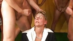 Dirty milf humiliated by bunch of youngsters