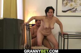 Fucks the old woman with her dick