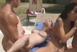 Harsh interracial pool party sex.mp4