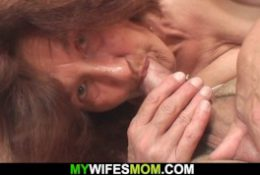 Old woman loves to suck and ride his cock