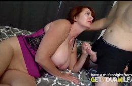 Stepmom helping son with sexual needs