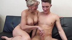 Stunning MILF with Big Boobs Gets Fucked by Teen