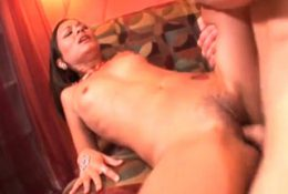 Teen asian getting her hairy snatch rubbed in close up