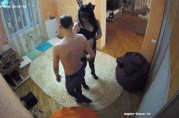 Amateur Bunny Teen In Mask Has BDSM Fetish Bandage Action