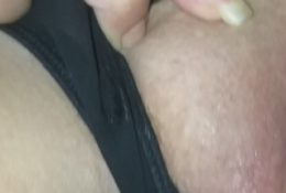 Fingering my girlfriend and inspecting her pussy and streching