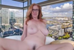 Frisky redhead wife material Allison gets wild and kinky