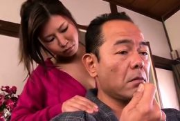 Subtitled Japanese milf oil massage parlor foreplay