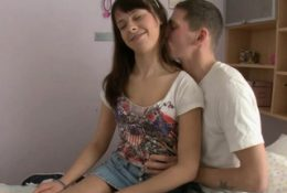 Beautiful brunette russian chick Dania gets fucking surprise