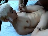 AMWF Alexis Texas interracial blowjob with Asian guy