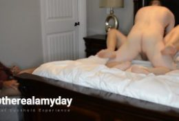 Real Hotwife Cuckhold Video – Cuck Cleans 2 Creampies