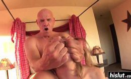 Sexy Blonde Babe Seduced An Old Dude
