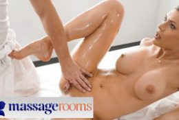 Massage Rooms Gorgeous Russian brunette Kitana Lure sensual oil soaked sex