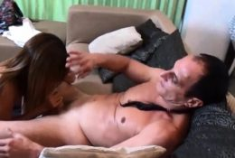 Thai amateur MILF fucks cheating husband