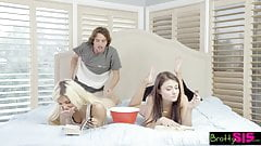 BrattySis – Tricked Horny Sis And Teen Friend Into Threeway