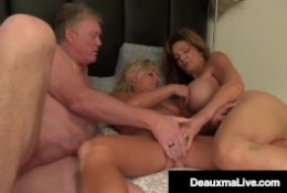 Busty Wild Wife Deauxma & Hard Cock Hubby Bang Cougar Payton Hall!