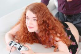 GingerPatch – Skinny Redhead Gets Fucked While Playing