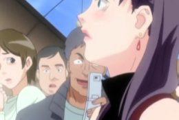 Hentai redhead gives blowjob and having sex