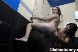 Nikki Montero and a Milf Slut Midget in the Shower
