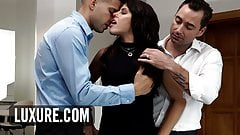 Surprise threesome and DP for Adriana Chechik