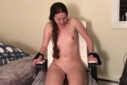 """Hitachi Torture"". Canadian girl tied up cumming on hitachi"