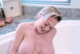 Horny Step Son Helps His Huge Boobed Step Mother