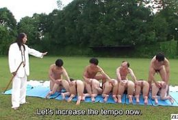 Uncensored Japanese outdoor nudist sex cult ceremony